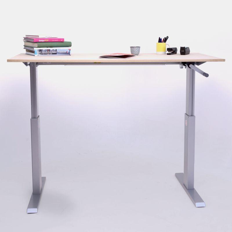 activ steh sitz schreibtisch mit kurbelverstellung. Black Bedroom Furniture Sets. Home Design Ideas