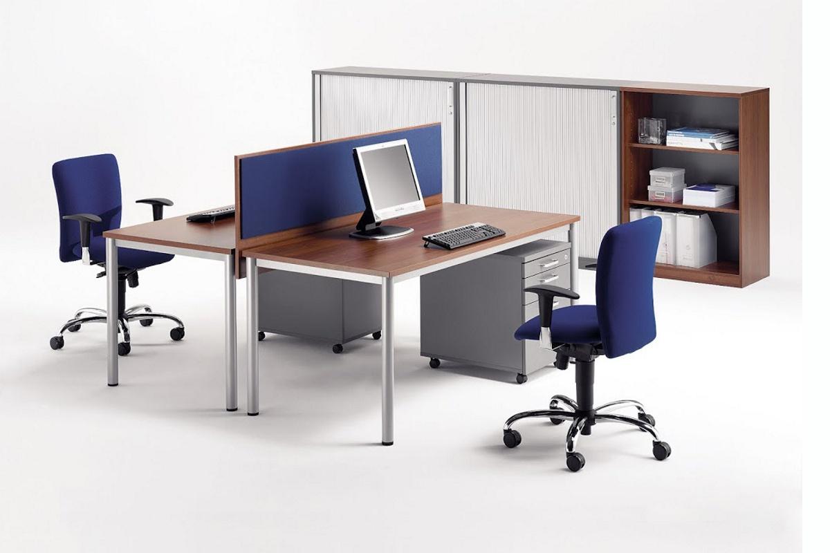Expert schreibtisch mit rundrohrgestell rechteckig 80cm for Schreibtisch 80 tief