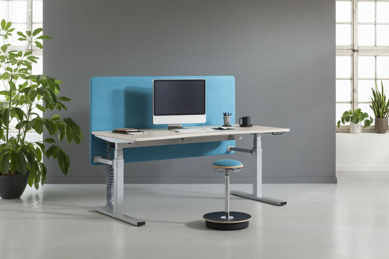 expert steh sitz schreibtisch rechteckig 70cm tief. Black Bedroom Furniture Sets. Home Design Ideas