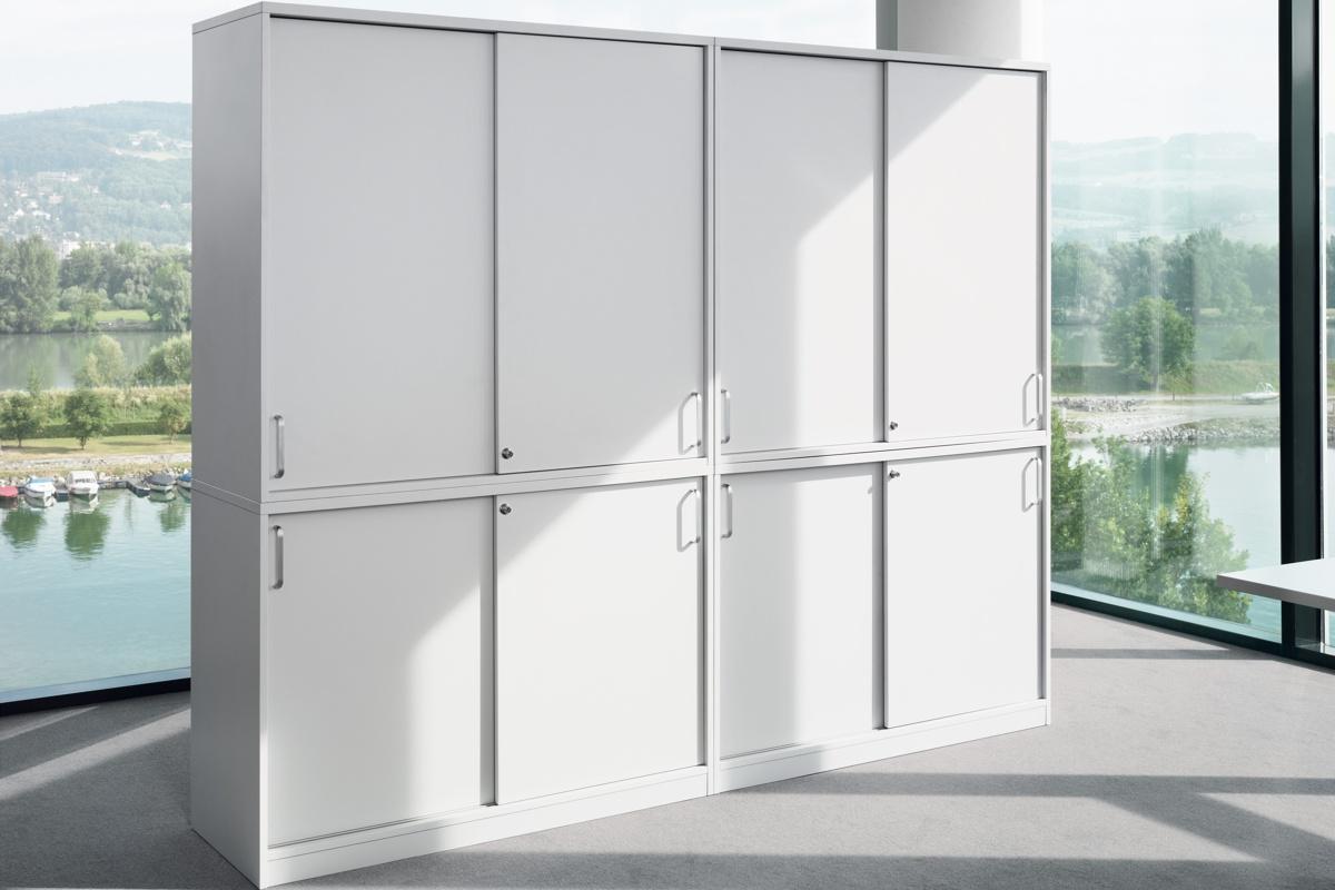 expert 2 oh aufsatz schiebet renschrank aktenschrank. Black Bedroom Furniture Sets. Home Design Ideas