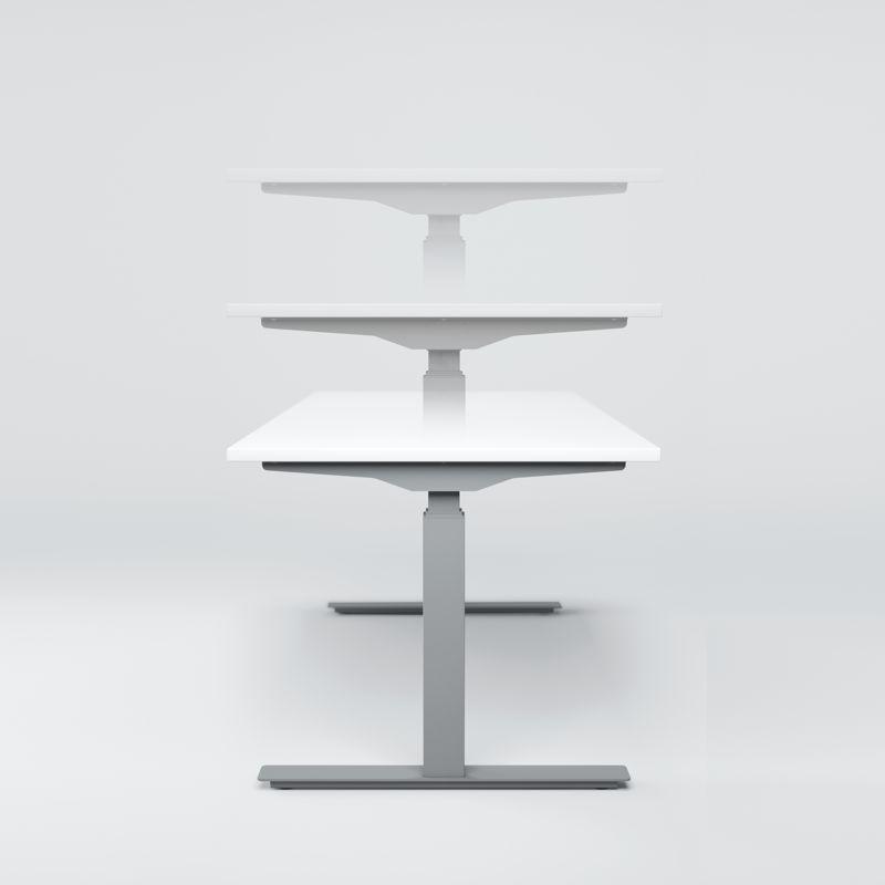 GERAMÖBEL Elektro Pro+ Winkelschreibtisch 135°, rechts, elektrisch verstellbar