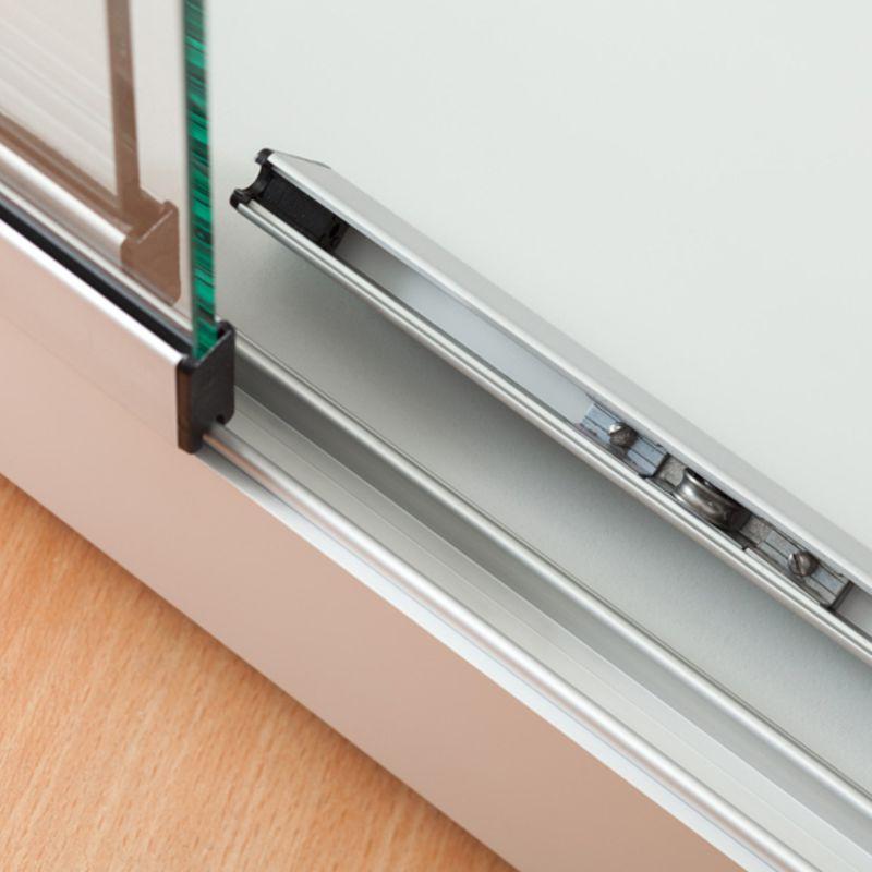 mpc glasvitrine mit schiebet ren und led beleuchtung b100xt40xh200cm. Black Bedroom Furniture Sets. Home Design Ideas