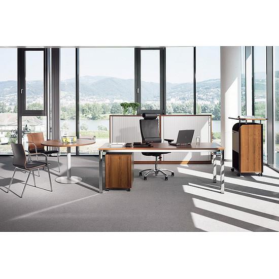 expert schreibtisch mit quadratrohrgestell rechteckig 60cm tief b rotische. Black Bedroom Furniture Sets. Home Design Ideas