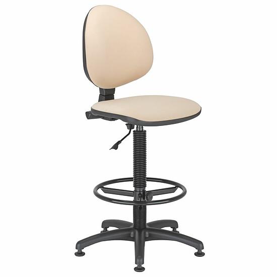 SMART Werkstatt Drehstuhl mit Polsterrücken und Ring Fußstütze