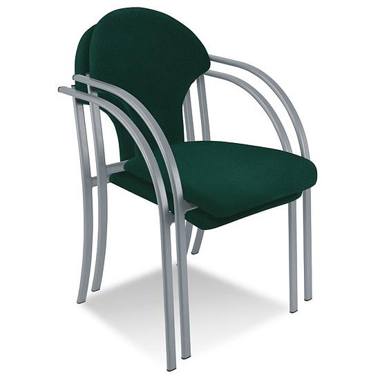 visa besucherstuhl mit armlehnen gepolstert stapelbar. Black Bedroom Furniture Sets. Home Design Ideas