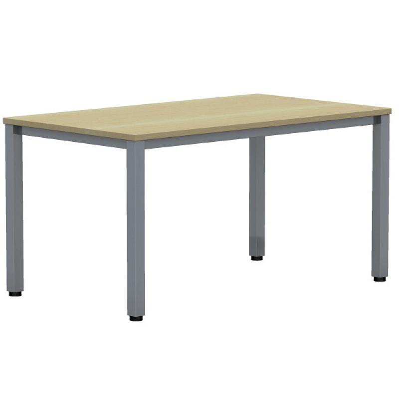 Expert schreibtisch mit quadratrohrgestell rechteckig for Schreibtisch 80 tief
