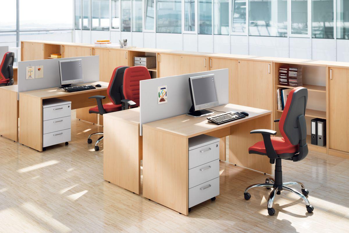 EXPERT Büromöbel Set, Doppelarbeitsplatz, 320x260cm (Komplettbüros)