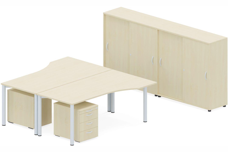 GERAMÖBEL Büromöbel Set, Doppelarbeitsplatz, 450x260cm (Komplettbüros)