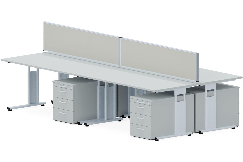 GERAMÖBEL Büromöbel Set, 4 Arbeitsplätze 450x450cm (Komplettbüros)