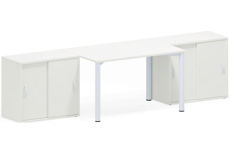 GERAMÖBEL Büromöbel Set, Doppelarbeitsplatz, 400x300cm (Komplettbüros)