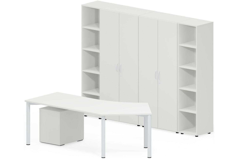 GERAMÖBEL Büromöbel Set, Doppelarbeitsplatz, 300x360cm (Komplettbüros)