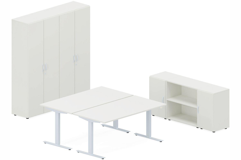 GERAMÖBEL Büromöbel Set, Doppelarbeitsplatz, 360x380cm (Komplettbüros)