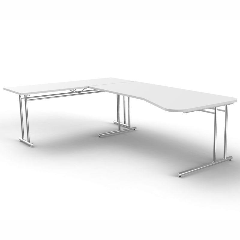 Ergonomischer bürotisch  ARTLINE Ergonomischer Schreibtisch mit Anbautisch, 160/170x80/60cm