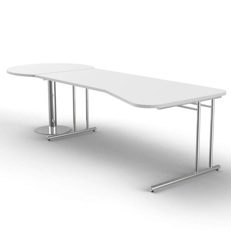 artline ergonomischer schreibtisch mit besprechungstisch 195 100x80 100cm. Black Bedroom Furniture Sets. Home Design Ideas
