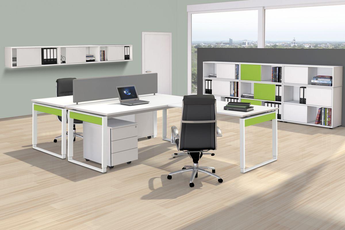 FRESH Büromöbel Set, 1 Arbeitsplatz, 350x450cm