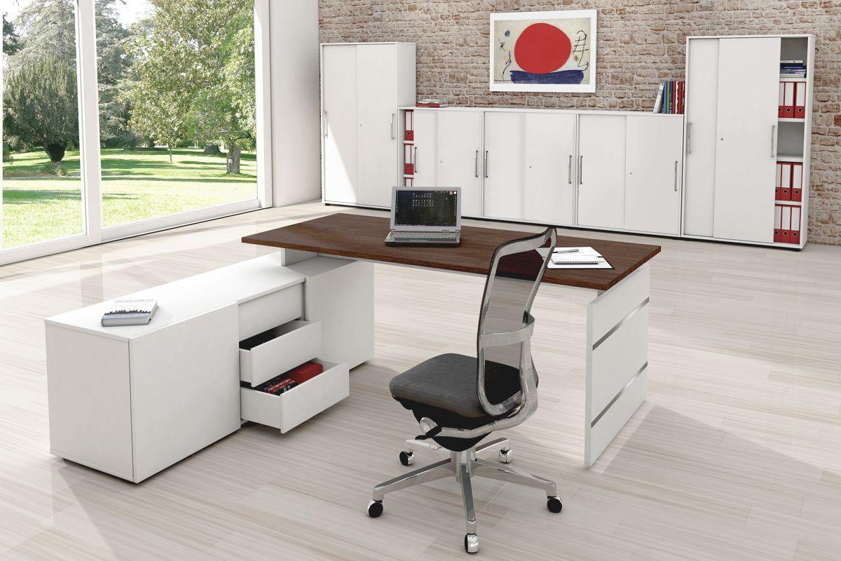 4 Büromöbel Set, 1 Arbeitsplatz 300x500
