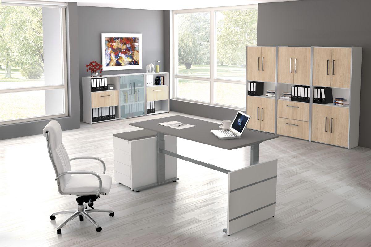 4 Büromöbel Set, 1 Arbeitsplatz 550x550