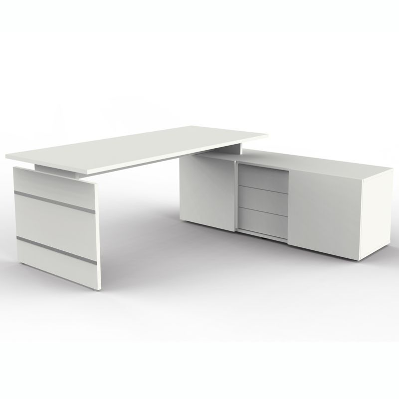 form 4 schreibtisch mit sideboard 180x80cm. Black Bedroom Furniture Sets. Home Design Ideas