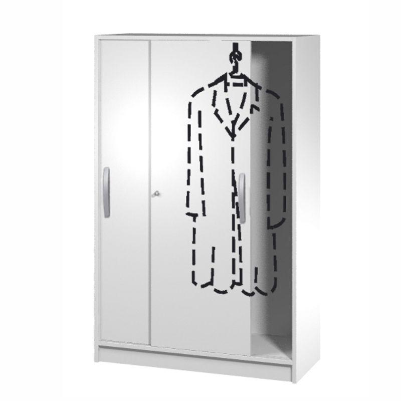 tec art garderobenschrank 4 oh 100cm breit. Black Bedroom Furniture Sets. Home Design Ideas