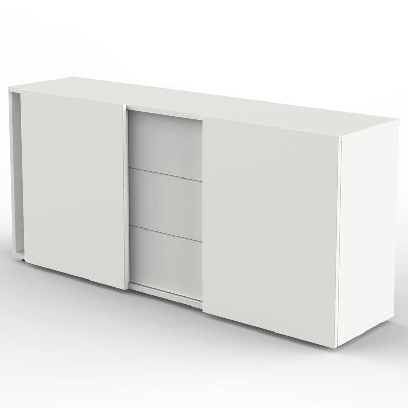 aveto sideboard mit schiebet ren und 3 schubladen 160x50cm. Black Bedroom Furniture Sets. Home Design Ideas