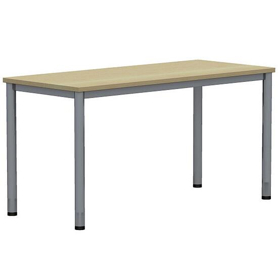 Expert schreibtisch mit rundrohrgestell rechteckig 60cm for Schreibtisch 60 tief