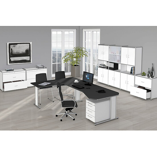 artline b rom bel set 1 ergonomischer arbeitsplatz mit. Black Bedroom Furniture Sets. Home Design Ideas