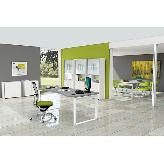FRESH Büromöbel Set, 1 Arbeitsplatz, 320x450cm + 1 Besprechungstisch ...