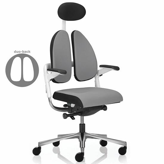XENIUM DUO BACK ® WHITE Drehstuhl mit Duo Polsterrücken, Rücken und Sitz mit Seitenböden